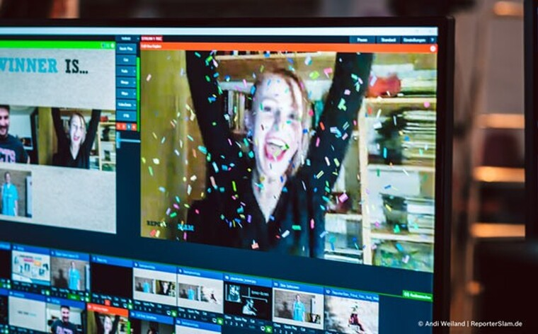 Una Hajdari wins the first online & English Reporter Slam